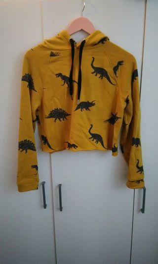 小恐龍芥黃短版上衣