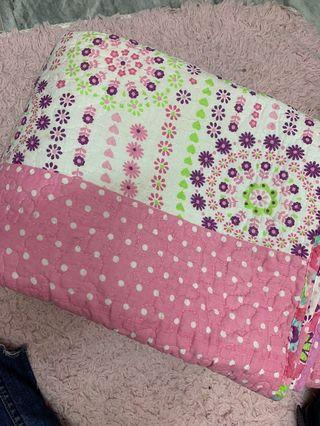 Patchwork single bed sheet