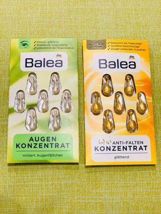 [現貨] Balea 🇩🇪綠茶眼部緊緻精華\Q10保濕精華(1組各一共2片14顆精華)