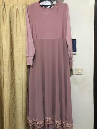 Gamis/longdress baby pink