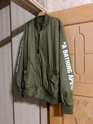 Bape 軍綠色薄外套 A bathing ape* aape L