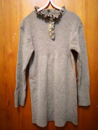 韓國針織長上衣