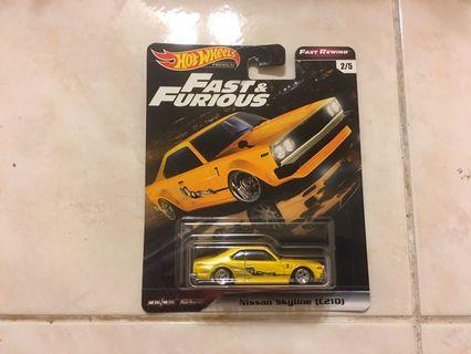 Hot Wheels Premium Fast & Furious (Fast Rewind) - Nissan Skyline (C210)