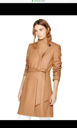 Aritzia Babaton Camel Cristobal Wool Coat