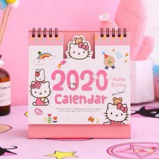 Shih🎀(現貨優惠😍)2020款Kitty簡約桌上型月曆記事本