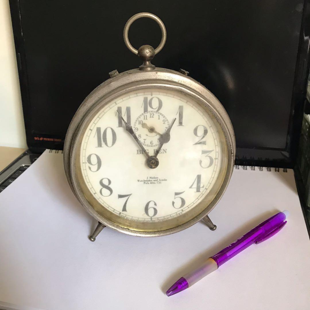 老式機械鬧鐘/古董鐘/機械鐘/鬧鐘