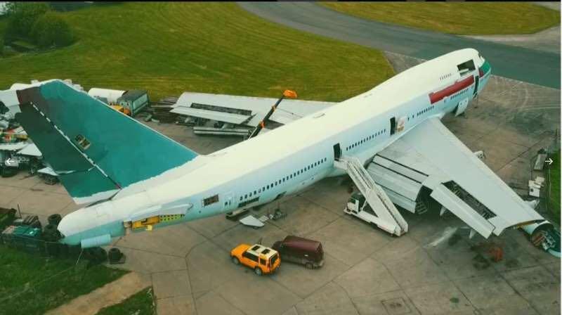 Boeing 747 B-HUJ Last Cathay Pacific Original Aircraft Tag White