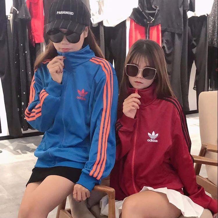 全新現貨Adidas三葉草外套復古學院風愛迪達三線運動服男女休閒外套