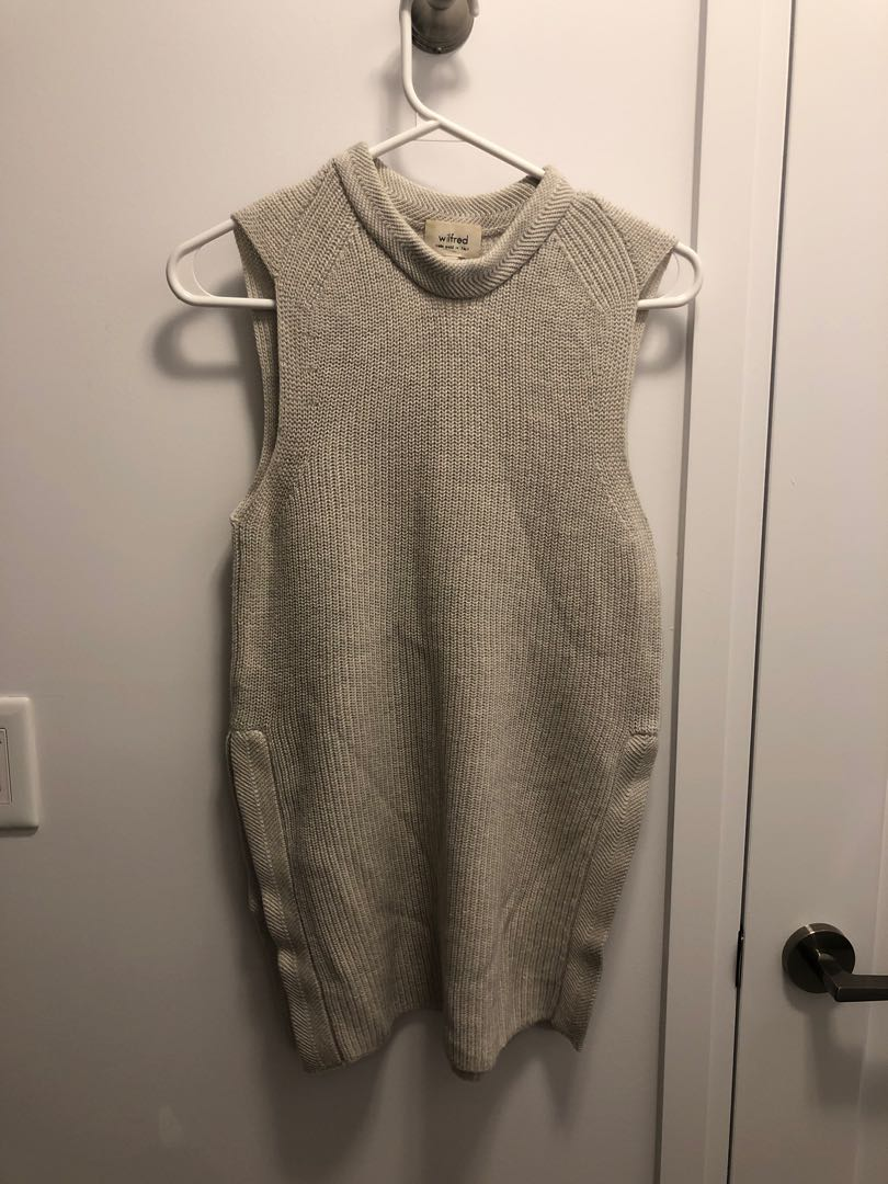 Aritzia Wilfred Palmier Sleeveless Sweater