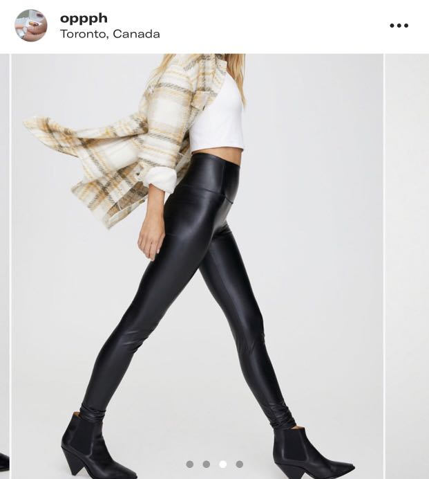 Aritzia Wilfred Vegan Faux Leather leggings/ pants xs