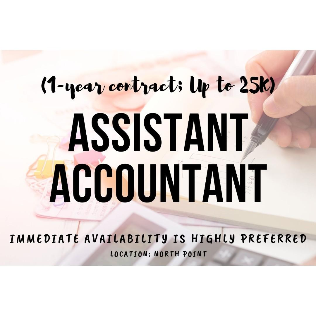 Assistant Accountant (1-year contract; Up to 25K)