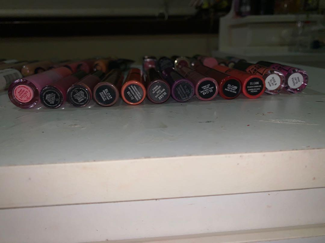 Assorted Lipsticks & Lipglosses including Huda Beauty, Jeffree Star, Kat Von D