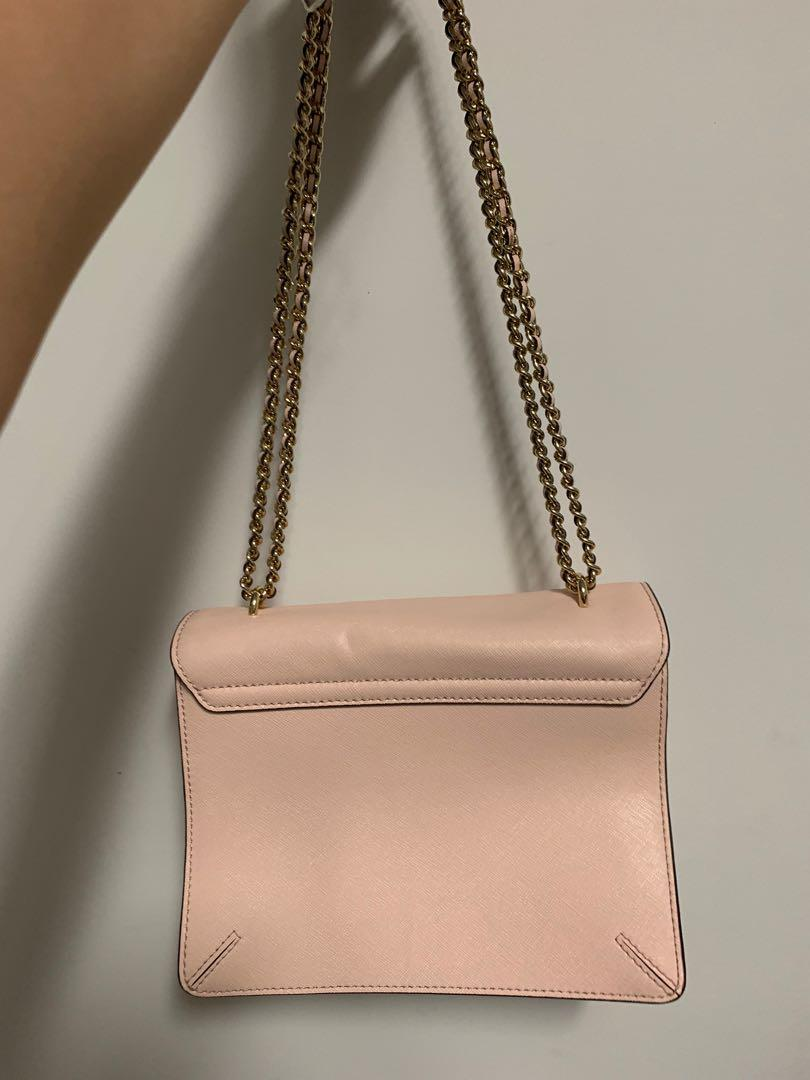 AUTH TORY BURCH Pink Chain Shoulder Bag Crossbody - Great Condition