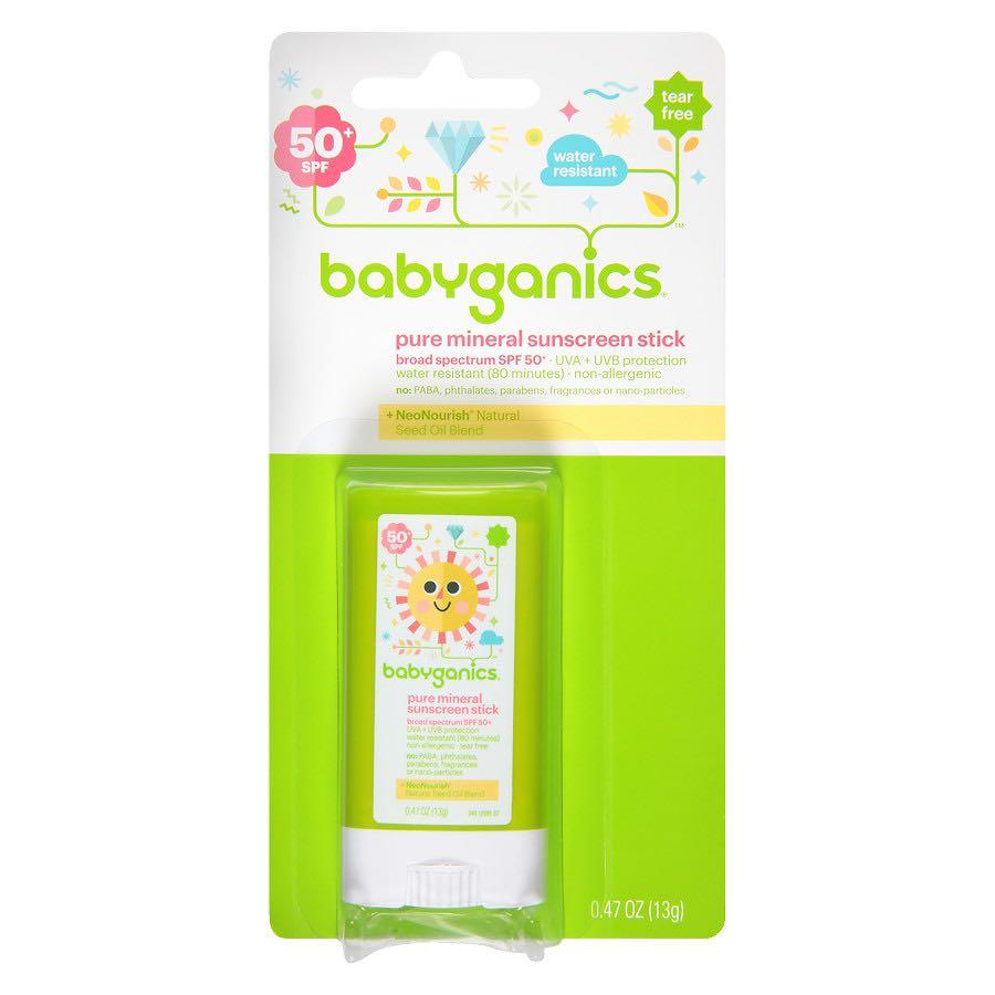 BabyGanics, Pure Mineral Sunscreen Stick, SPF 50+, 0.47 oz (13 g) 嬰兒/兒童礦物防曬相