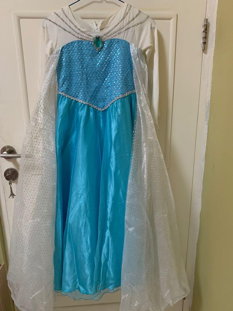 Baju dress gaun kostum pesta anak perempuan frozen elsa