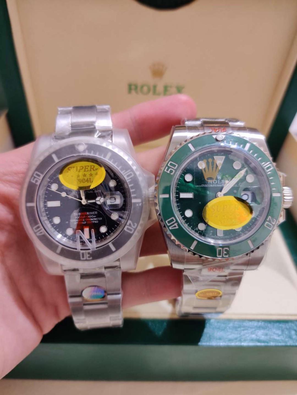 (Best sales Ready stock) NOOB Best Ver.10 Rolex Submariner Black&Green Swiss 3135 904Ll