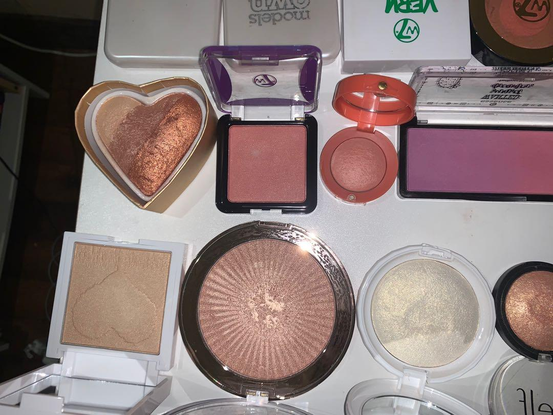 Bronzer, Contour, Blush & Highlighters including Colourpop, Too Faced, Fenty Beauty