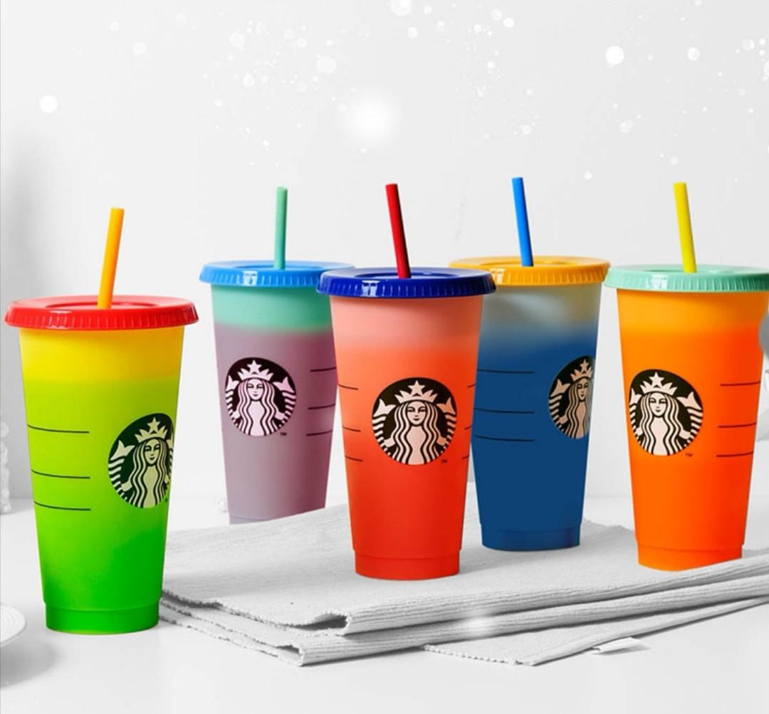 Colour changing cups