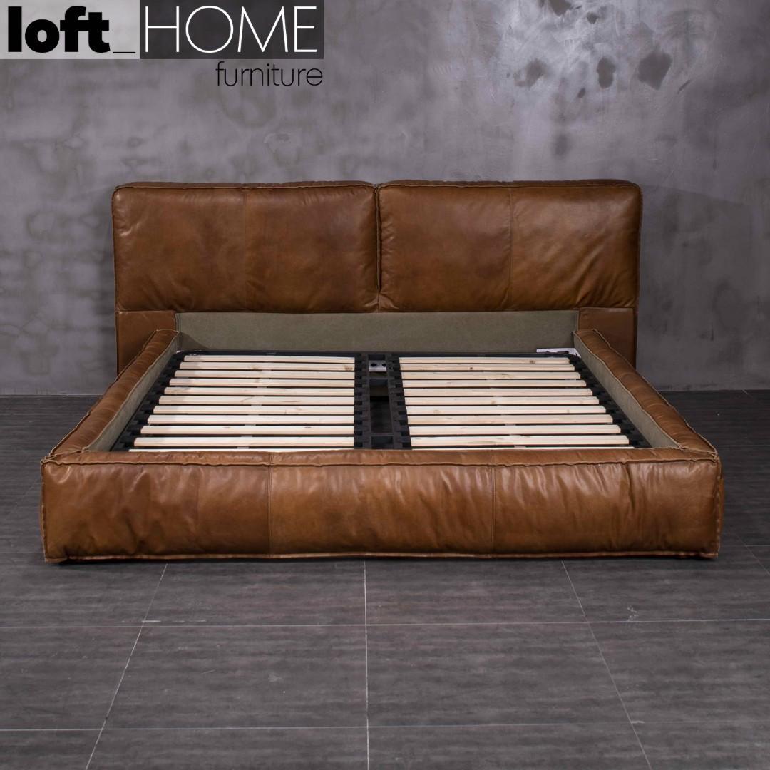 Genuine Leather Bed Frame – Antique Master