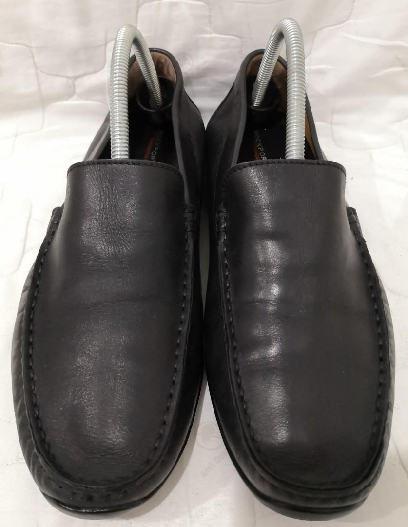 GEOX Black Full Leather Loafer 9uk.