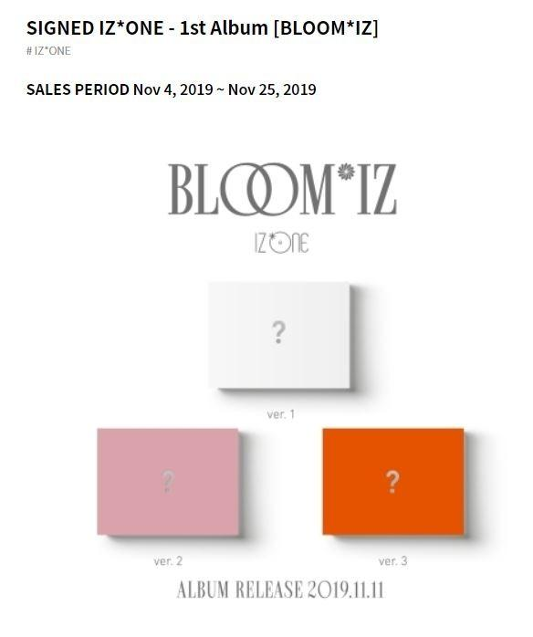 [GO] RANDOM ONE MEMBER SIGNED IZ*ONE - 1st Album [BLOOM*IZ]