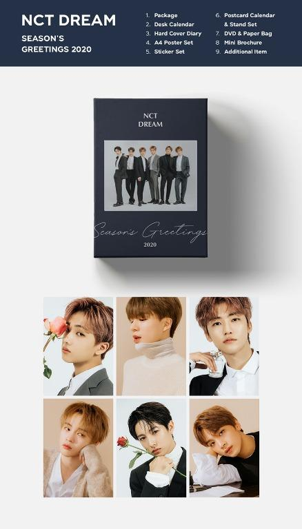 [GO] SM 2020 Seasons Greetings with pre-order card set (TVXQ/Super Junior/Girls' Generation/SHINee/EXO/Red Velvet/NCT 127/NCT DREAM)