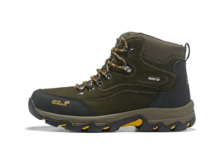 Jack wolfskin 男士登山鞋 戶外防水防滑鞋 雪地靴 頭層牛皮反絨高邦鞋 狼爪工作鞋男靴