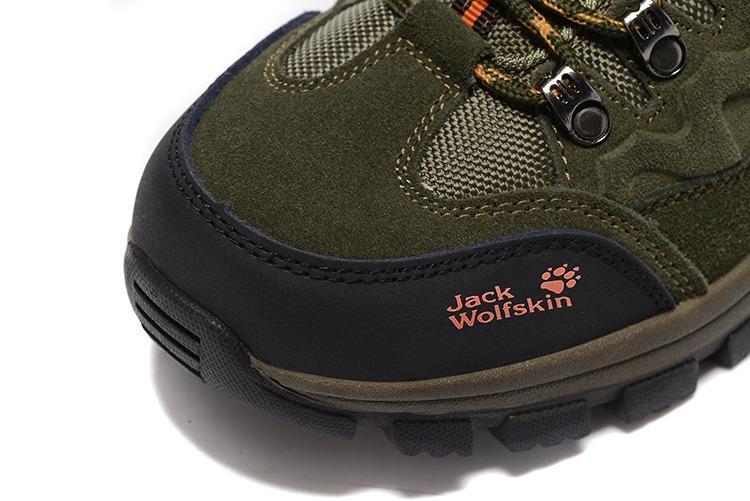 Jack wolfskin/ 狼爪登山鞋 低邦運動鞋 四季鞋 防水防滑徒步鞋 男士登山鞋 低筒反毛皮戶外鞋