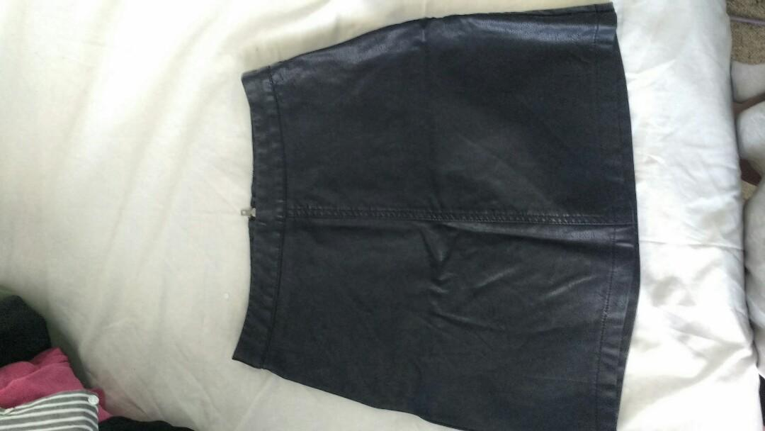 Leather Skirt #swapau