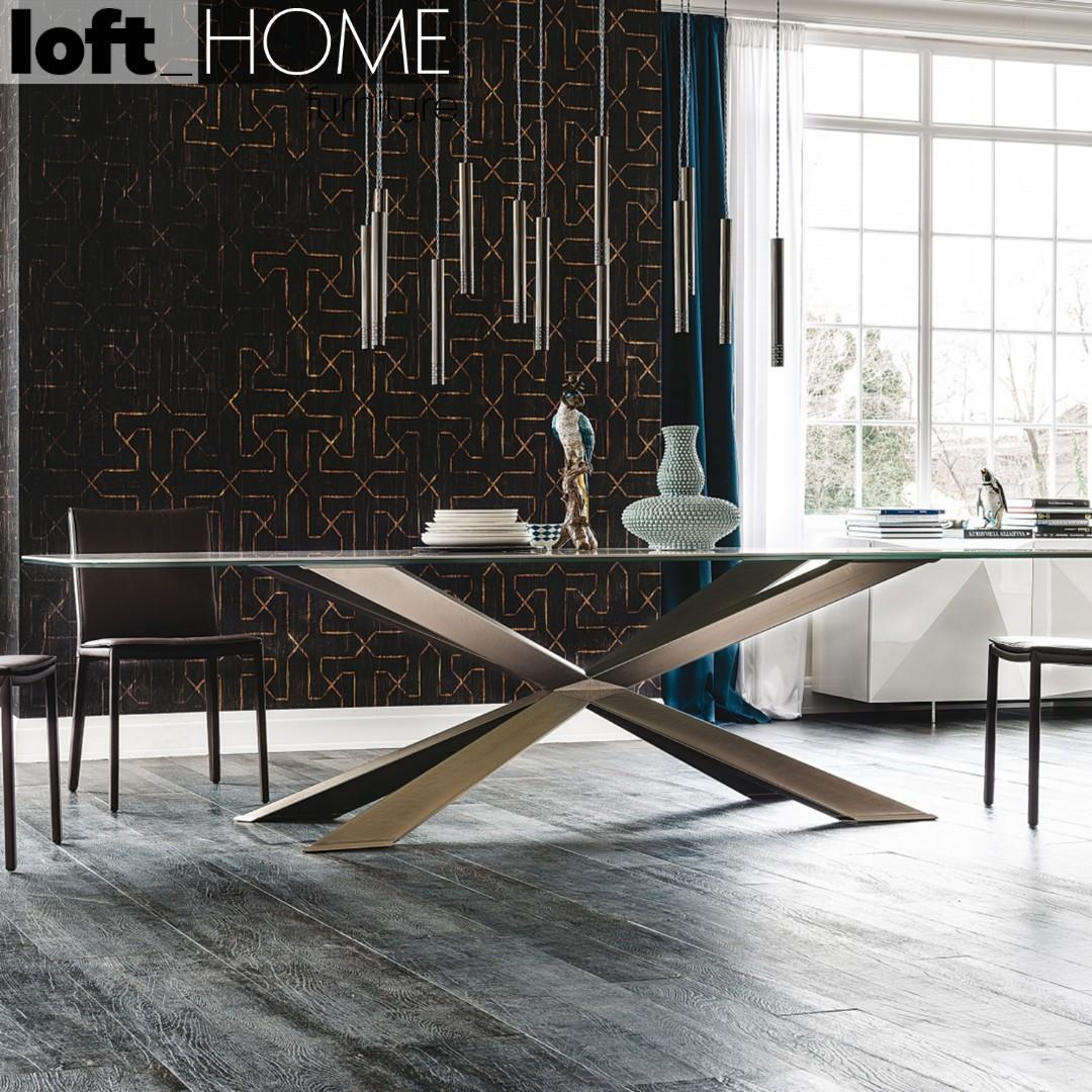 Marble / Stainless Steel Dining Table – SPYDER