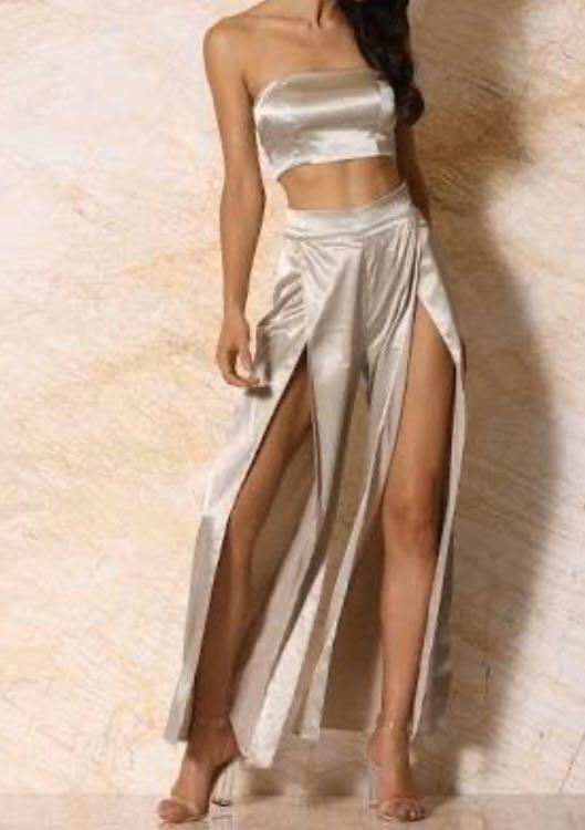 MESHKI Satin Palazzo Pant - Size Small TWO COLOURS AVAILABLE