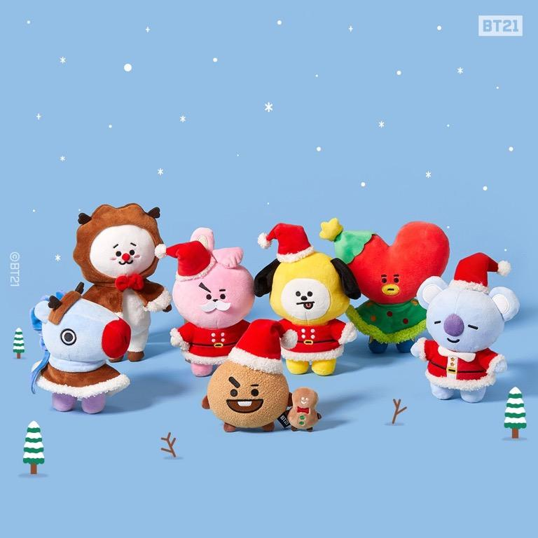 OFFICIAL BT21 2019 WINTER EDITION STANDING DOLL (15CM)