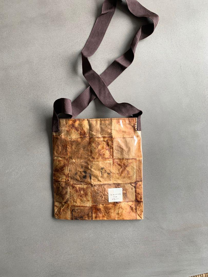 Old Bag from Africa- Hand made from tea bags -Vintage