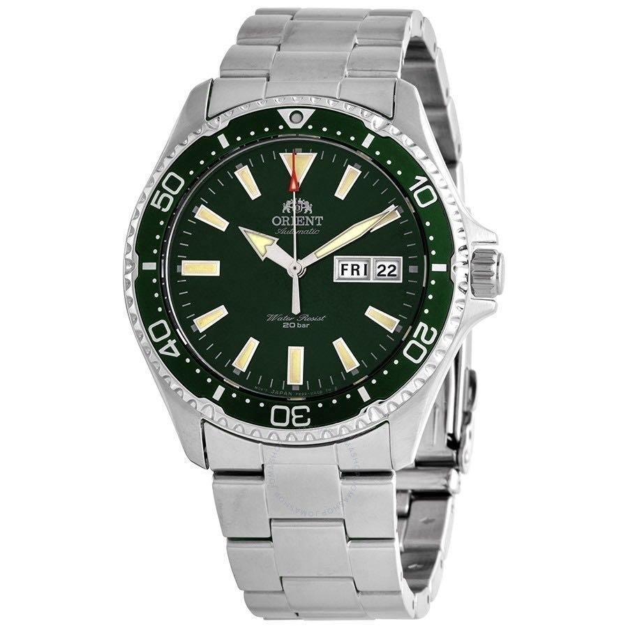 [BNIB] Orient Mako III Kamasu Automatic 200M Men's Watch Green Dial RA-AA0004E