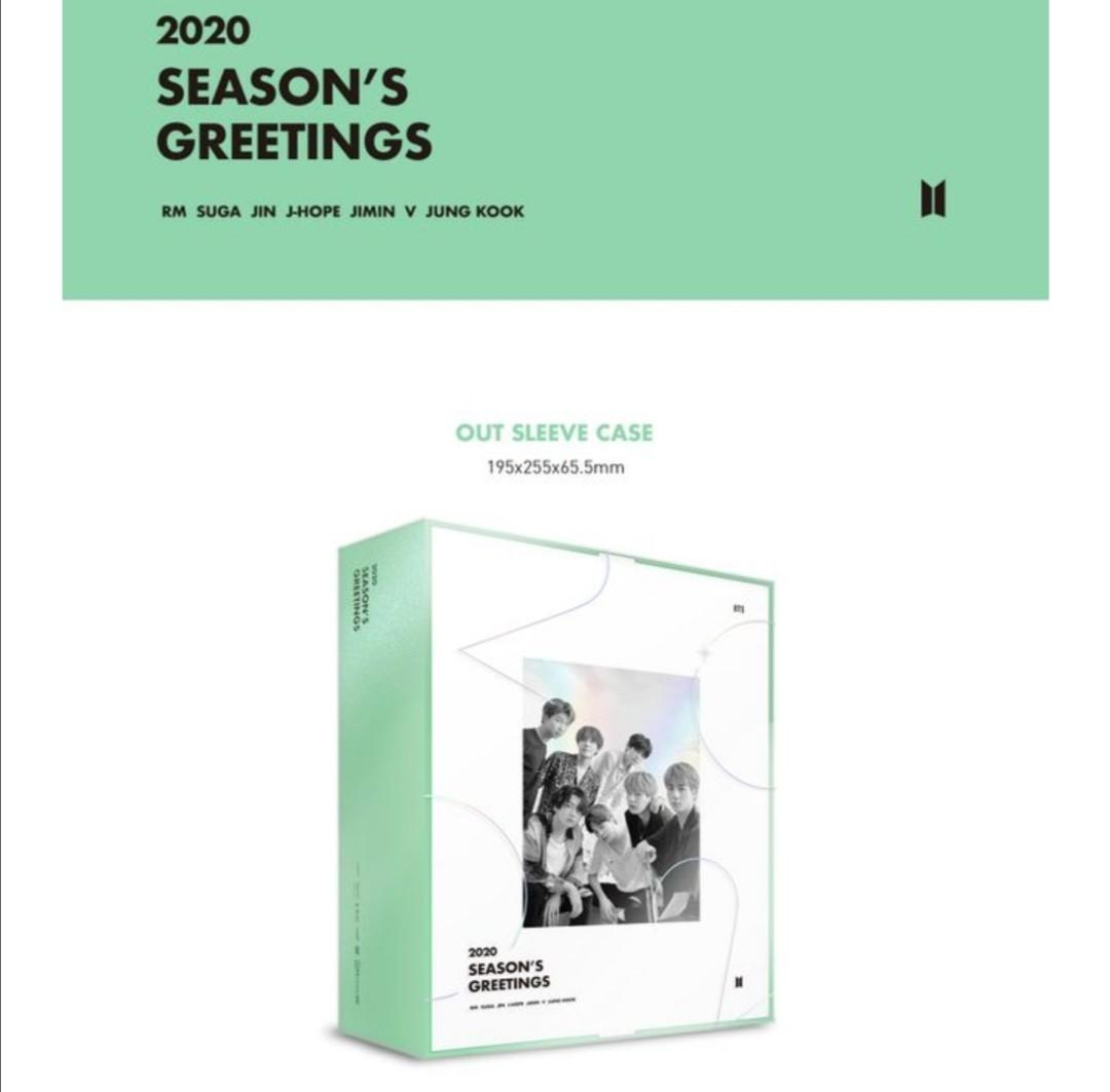 <1ST PO CLOSED> BTS 2020 SEASON'S GREETINGS AND WALL CALENDAR