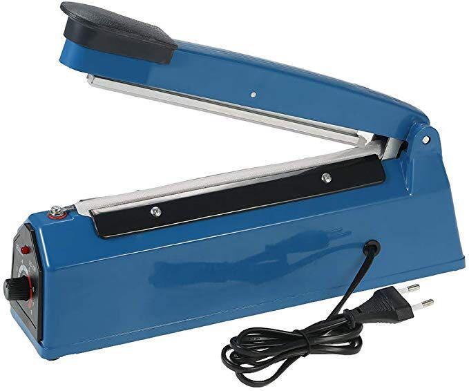 Raitron 220V 50Hz Manual Plastic Film Sealer Heat Impulse Sealer Poly Bag Plastic Film Sealing Machine Bag Sealer Hand Impulse Sealer
