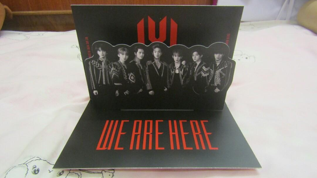 [READY STOCK] MONSTA X WE ARE HERE WORLD TOUR IN SEOUL POP- UP CARD
