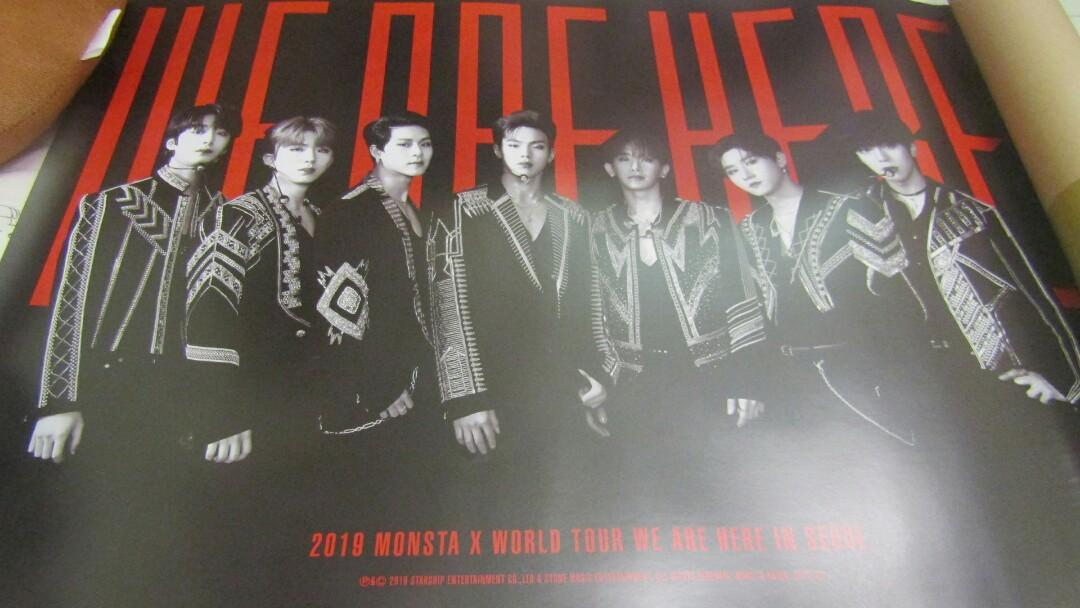 [READY STOCK] MONSTA X WE ARE HERE WORLD TOUR IN SEOUL POSTER (DVD)