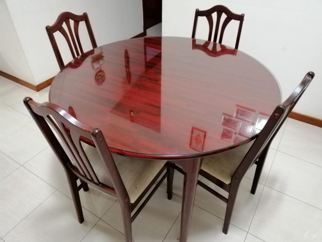 Rosewood Round Dining Table Furniture Tables Chairs On Carousell