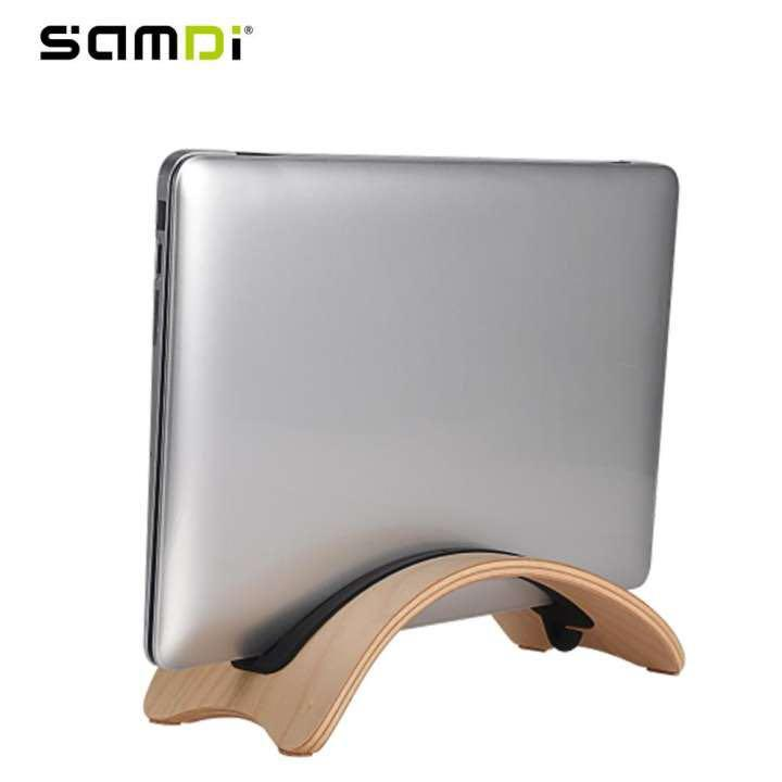 SAMDI natural wooden Laptop Stand Notebook Wood Holder for Mac Air / Pro