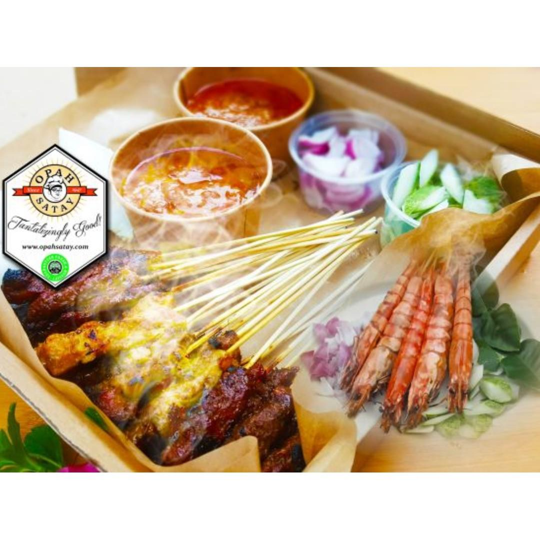 Satay Delivery by Opah Satay - Cooked (Halal)