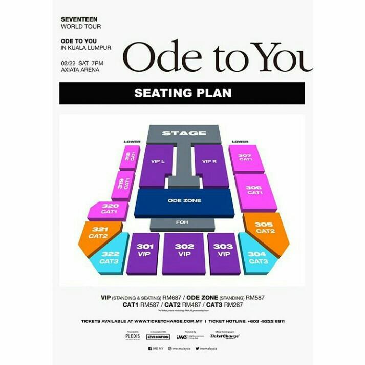 Seventeen Ode To You Concert Ticket VIP Zone R