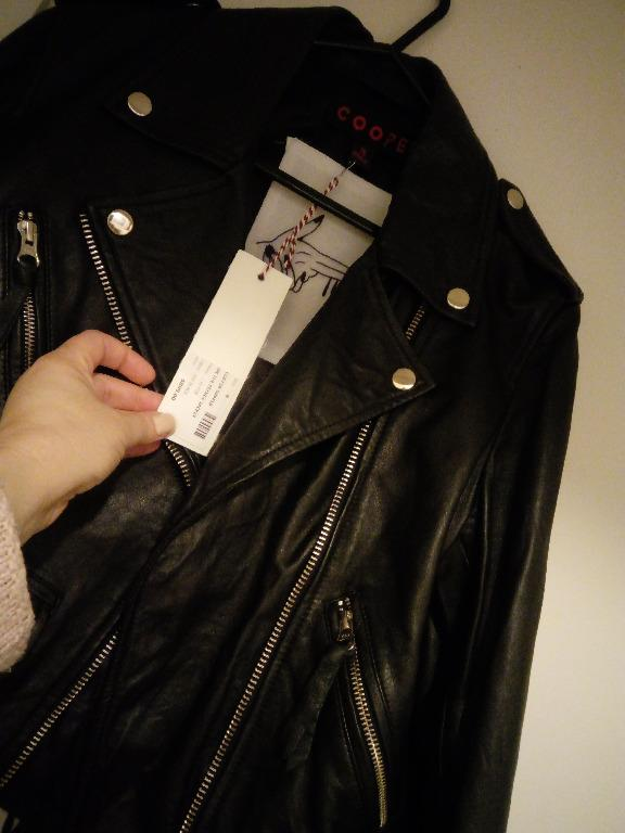 SIZE 8-10 TRELISE COOPER LEATHER JACKET (UNWORN WITH TAGS)