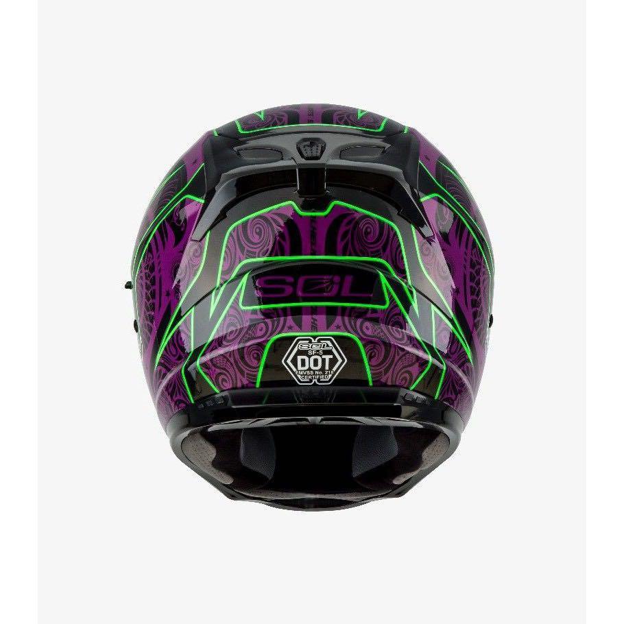 SOL SF-5  巴比倫 黑紫 Helmet