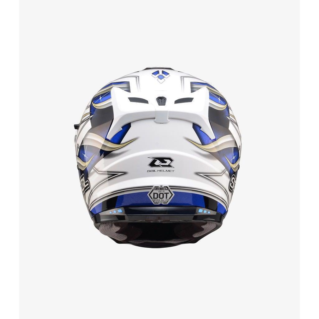 SOL SF-5 查克拉  白藍 Helmet
