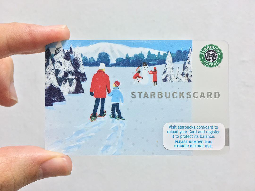 Starbucks 'Winter' Old Logo Gift Card (2007)