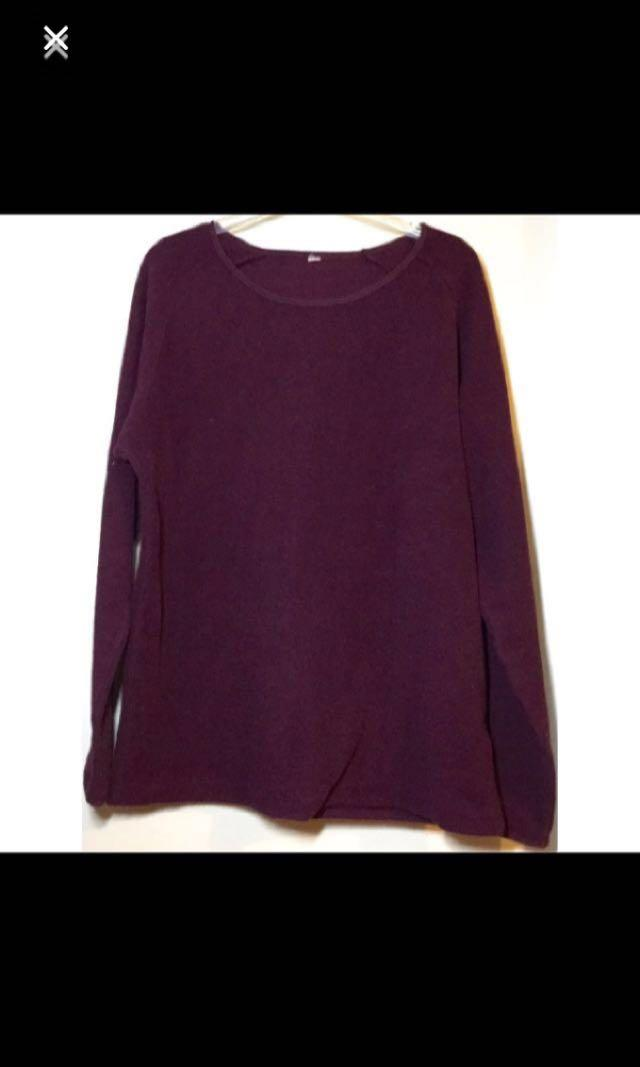 Thick fleece long sleeves pullover Sweater top  厚 抓毛長袖衛衣