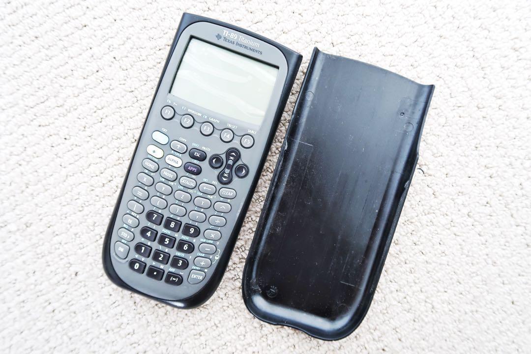 TI 89 Texas Instruments titanium graphing calculator black