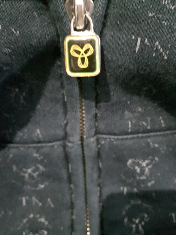 TNA Black logo zipper Hoodie XXS-w adjustable hood strings