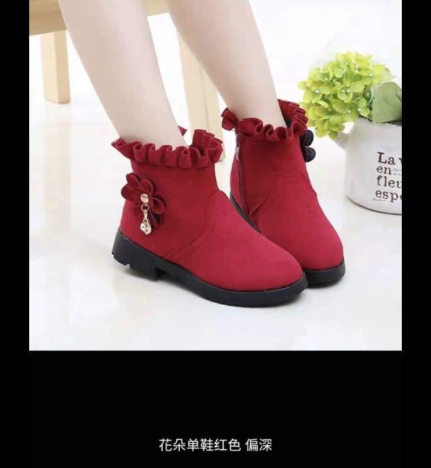 Toddler red Winter Boots